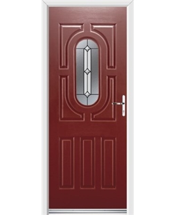 Ultimate Arcacia Rockdoor in Ruby Red with Ellipse Glazing
