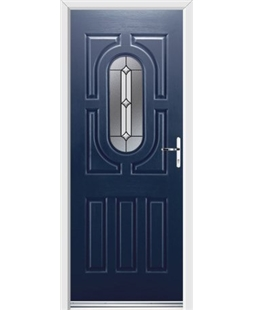 Ultimate Arcacia Rockdoor in Sapphire Blue with Ellipse Glazing