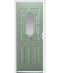 Ultimate Arcacia Rockdoor in Chartwell Green with Gluechip Glazing
