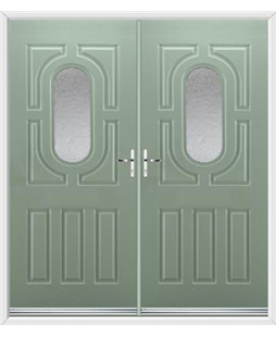 Arcacia French Rockdoor in Chartwell Green with Gluechip Glazing