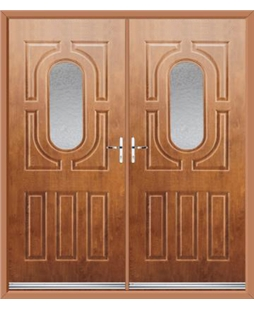 Arcacia French Rockdoor in Light Oak with Gluechip Glazing