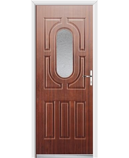 Ultimate Arcacia Rockdoor in Mahogany with Gluechip Glazing