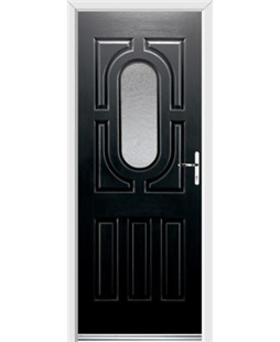 Ultimate Arcacia Rockdoor in Onyx with Gluechip Glazing