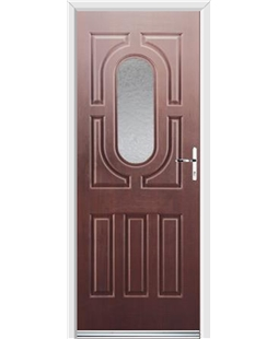 Ultimate Arcacia Rockdoor in Rosewood with Gluechip Glazing