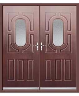 Arcacia French Rockdoor in Rosewood with Gluechip Glazing