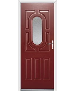 Ultimate Arcacia Rockdoor in Ruby Red with Gluechip Glazing