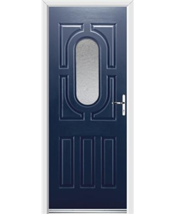 Ultimate Arcacia Rockdoor in Sapphire Blue with Gluechip Glazing