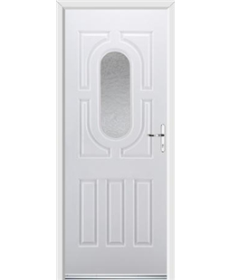 Ultimate Arcacia Rockdoor in White with Gluechip Glazing