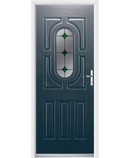 Ultimate Arcacia Rockdoor in Anthracite Grey with Green Diamonds
