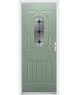 Ultimate Arcacia Rockdoor in Chartwell Green with Green Diamonds