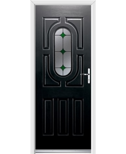 Ultimate Arcacia Rockdoor in Onyx Black with Green Diamonds