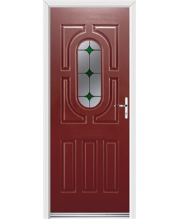 Ultimate Arcacia Rockdoor in Ruby Red with Green Diamonds