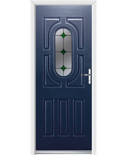 Ultimate Arcacia Rockdoor in Sapphire Blue with Green Diamonds