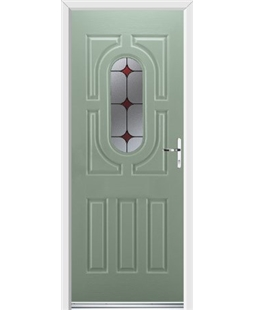 Ultimate Arcacia Rockdoor in Chartwell Green with Red Diamonds