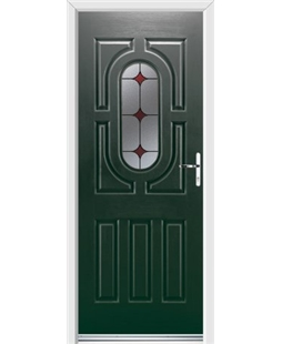 Ultimate Arcacia Rockdoor in Emerald Green with Red Diamonds