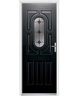 Ultimate Arcacia Rockdoor in Onyx Black with Red Diamonds