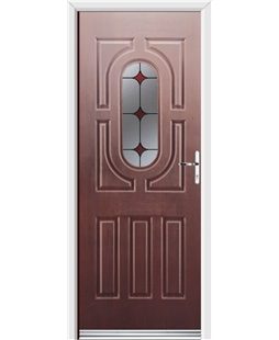 Ultimate Arcacia Rockdoor in Rosewood with Red Diamonds