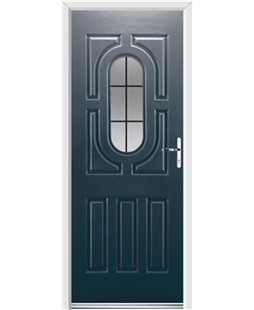 Ultimate Arcacia Rockdoor in Anthracite Grey with Square Lead