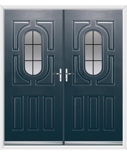 Arcacia French Rockdoor in Anthracite Grey with Square Lead