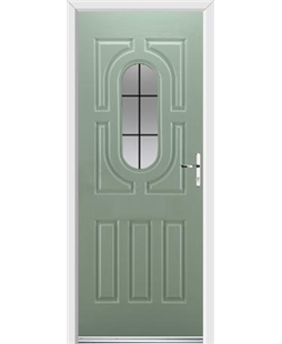 Ultimate Arcacia Rockdoor in Chartwell Green with Square Lead