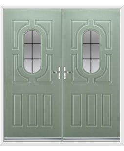 Arcacia French Rockdoor in Chartwell Green with Square Lead