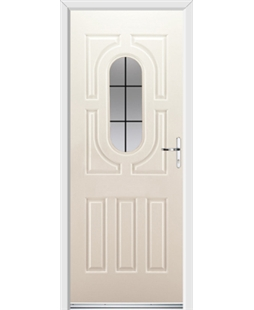 Ultimate Arcacia Rockdoor in Cream with Square Lead