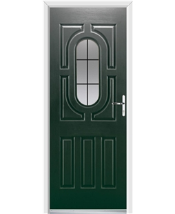Ultimate Arcacia Rockdoor in Emerald Green with Square Lead