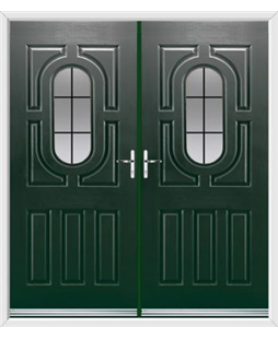 Arcacia French Rockdoor in Emerald Green with Square Lead