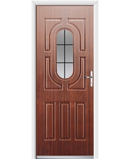 Ultimate Arcacia Rockdoor in Mahogany with Square Lead