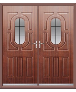 Arcacia French Rockdoor in Mahogany with Square Lead