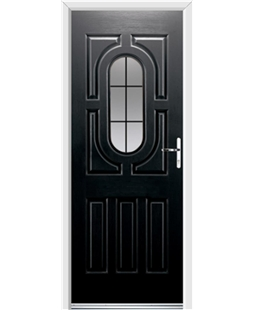 Ultimate Arcacia Rockdoor in Onyx with Square Lead
