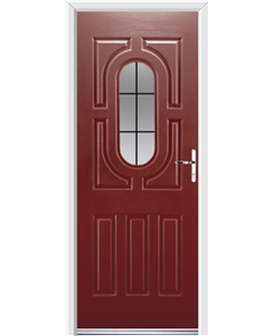 Ultimate Arcacia Rockdoor in Ruby Red with Square Lead