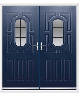 Arcacia French Rockdoor in Sapphire Blue with Square Lead