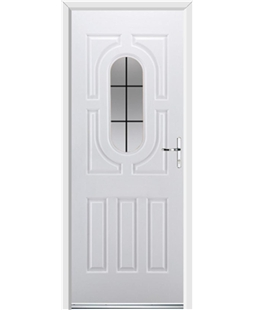 Ultimate Arcacia Rockdoor in White with Square Lead