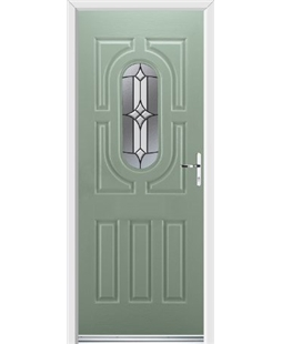 Ultimate Arcacia Rockdoor in Chartwell Green with Summit Glazing