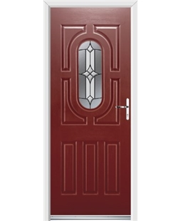 Ultimate Arcacia Rockdoor in Ruby Red with Summit Glazing