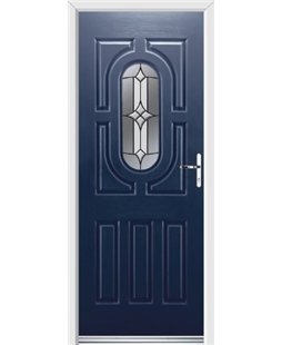 Ultimate Arcacia Rockdoor in Sapphire Blue with Summit Glazing