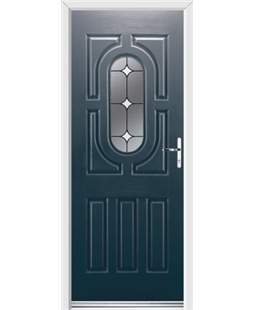 Ultimate Arcacia Rockdoor in Anthracite Grey with White Diamonds