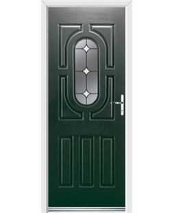 Ultimate Arcacia Rockdoor in Emerald Green with White Diamonds