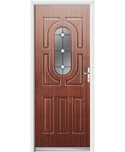 Ultimate Arcacia Rockdoor in Mahogany with White Diamonds
