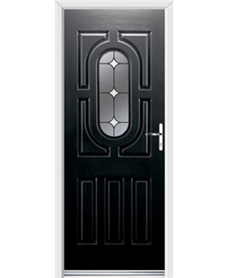 Ultimate Arcacia Rockdoor in Onyx Black with White Diamonds