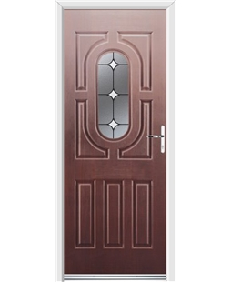 Ultimate Arcacia Rockdoor in Rosewood with White Diamonds