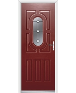 Ultimate Arcacia Rockdoor in Ruby Red with White Diamonds