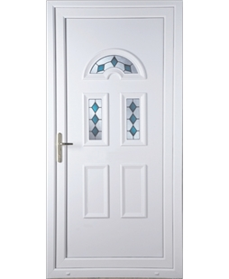 Brighton Blue Jewel uPVC Door