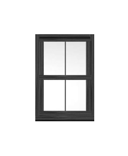West Midlands uPVC Sliding Sash Window in Anthracite Grey