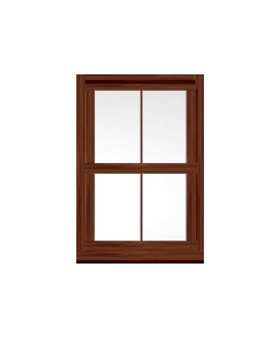 West Midlands uPVC Sliding Sash Window in Rosewood
