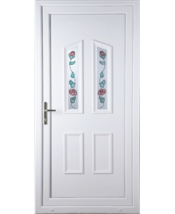 Doncaster Climbing Rose uPVC High Security Door