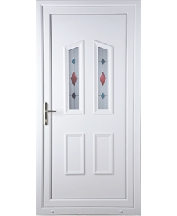 Upvc doors in white upvc front back doors value doors uk for Coloured upvc doors