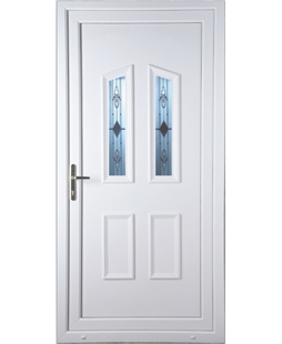Doncaster Sandblast Bevel uPVC High Security Door