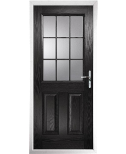 The Kettering Composite Door in Black with Clear Glazing